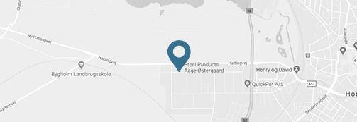 Kort over Steel Products Aage Østergaards geografiske placering