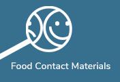 Blå knap-Food Contact Materials
